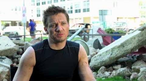 "Marvel's Avengers Age of Ultron Jeremy Renner ""Clint Barton Hawkeye"" Interview"