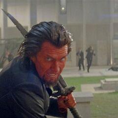 Azazel is a master swordsman
