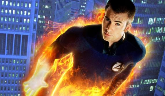 Image result for human torch chris evans