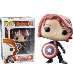 Black Widow with shield