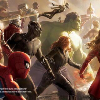 Concept art for Infinity War featured on the Disney 23 magazine; by artist Ryan Meinerding
