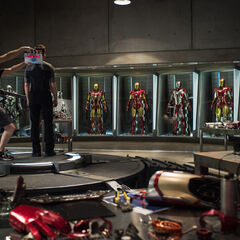 Hall of Armor in <i>Iron Man 3</i>