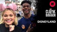 Marvel's Cloak & Dagger Cast in Disneyland Olivia Holt & Aubrey Joseph Enjoy The Magic of Disney