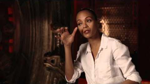 Marvel's Guardians of the Galaxy Zoe Saldana Behind the Scenes Movie Interview