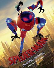 Into the Spider Verse Spanish Poster