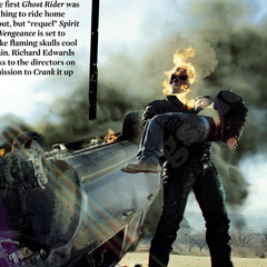 Ghost Rider holding Danny Ketch.