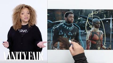Black Panther's Costume Designer Breaks Down T'Challa's Entrance Scene Vanity Fair