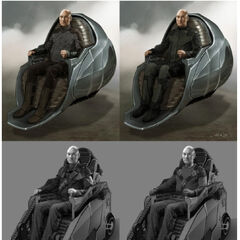 Concept art of old Xavier from <i>X-Men: Days of Future Past</i>.