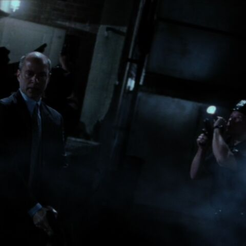 Manolis and his men hunting for Daredevil and Bullseye