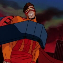 Cyclops held captive in a universe without Xavier.