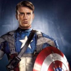 Captain America without his helmet.