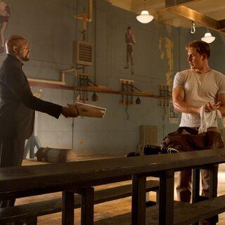 Nick Fury and Steve Rogers.