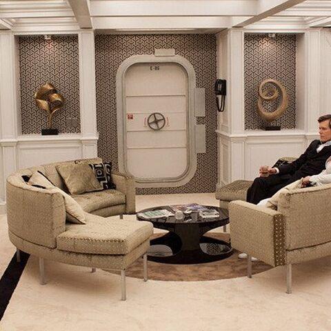 The submarine's lounge.