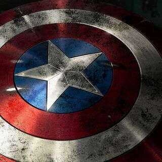 Captain America's battered shield