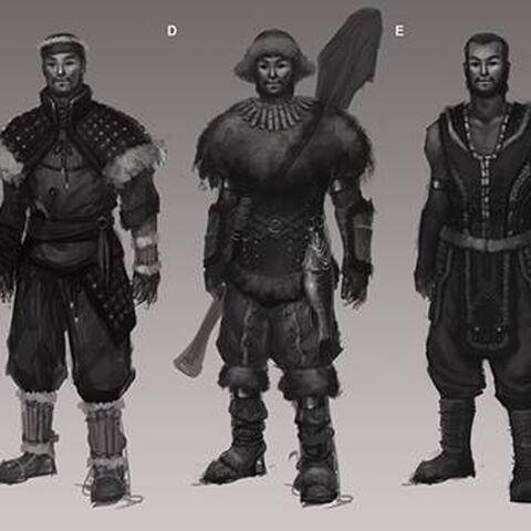 Concept art of Vanir peasans from <i><a href=