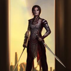Concept art of Sif.