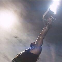 Thor summons lightning.