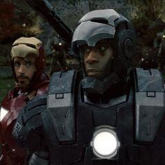 War Machine and Iron Man.