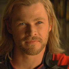Thor in Odin's Throne room.