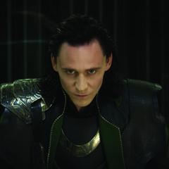 Loki's evil look.