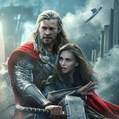 Character Poster of Thor & Jane.
