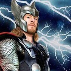 Promotional Art of Thor in his helmet.