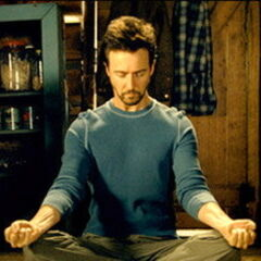 Bruce meditates.