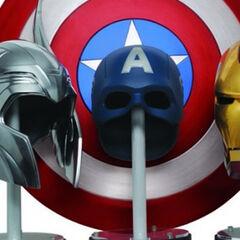 The Big Three's helmets.