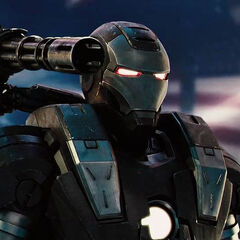 War Machine arming his minigun.