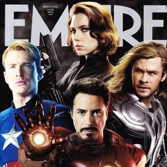 The Avengers on the <i>Empire</i> cover.