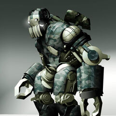 Concept art for an American droid.