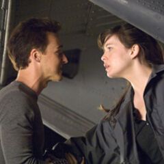 Bruce with Betty Ross.