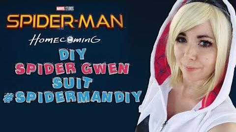 DIY SPIDER GWEN SUIT 🕸 SPIDERMANDIY 🕷 SPIDERMAN HOMECOMING