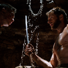 Yashida presents Logan with his sword