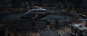 Stark Industries Helicopter The Raft Helipad Captain America Civil War (1)