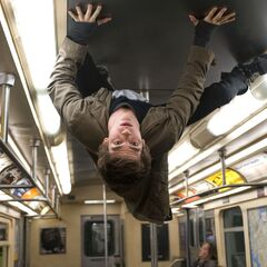 Andrew Garfield as Peter Parker, using his powers.