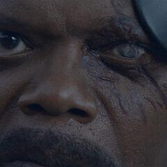 Fury's left eye.