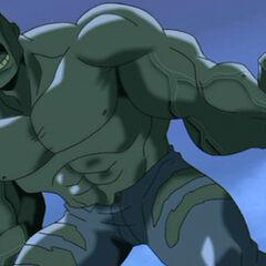 Bruce as Hulk.