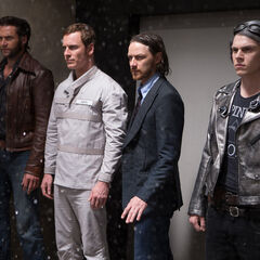 Quicksilver with Charles, Logan and Erik.