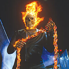 Ghost Rider's first transformation.