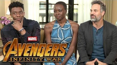 'Avengers Infinity War' Chadwick Boseman, Mark Ruffalo and Danai Gurira (FULL INTERVIEW)