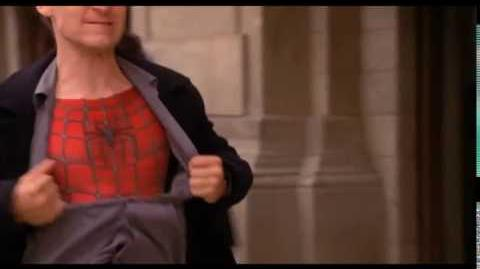 Peter Parker Removes His Shirt (Extended Scene) - Spider-Man (1080p)