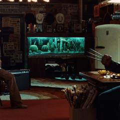 John talks with Logan in his office