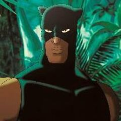 Black Panther as he appears in <i>Ultimate Avengers 2</i>.