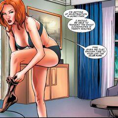 Natasha getting changed