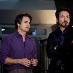Bruce Banner and Tony Stark.