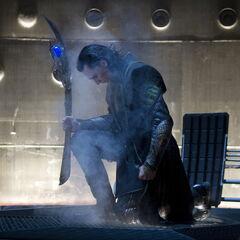 Loki arrives on Earth.
