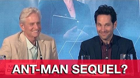Ant-Man Cast Talk Ant-Man Sequel - Paul Rudd, Michael Douglas, Michael Pena, Peyton Reed
