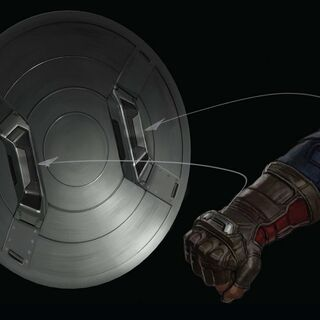 Captain America's shield with magnetic attachments.