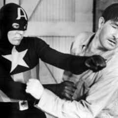 Captain America punches out the Nazis
